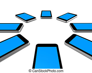 mobile phones - three dimensional mobile phones group...