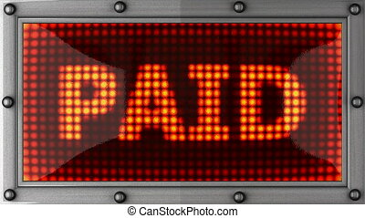 paid  announcement on the LED display
