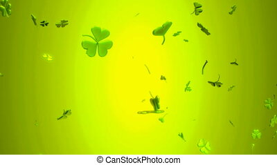 Loopable St. Patrick\'s Day clover - Motion Background