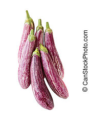 Eggplant - Listada de Gandia Italian purple and white...