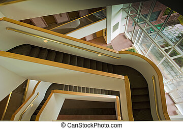 Staircase in lobby of a commercial or office building