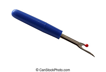 Seam Ripper - Seam ripper quick unpick isolated on white...