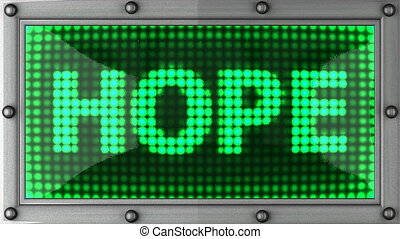 hope announcement on the LED display