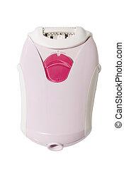 epilator - pink epilator isolated on white background