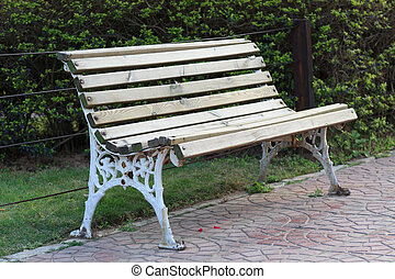 Outdoor open seat - Outdoor open bench in park