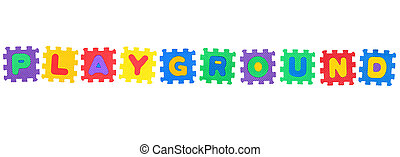 Playground - Word Playground, from letter puzzle, isolated...