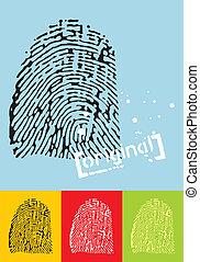 Fingerprint - Vectorial illustration of a fingerprint....