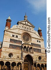 Cathedral, Cremona - Cathedral marble facade, Cremona,...
