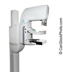 Mammogram Machine - Close up of mammogram machine isolated...