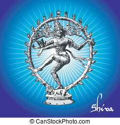 Shiva deity - Vectorial Illustration of Shiva deity.
