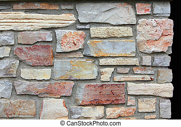 Color brick Wall - Beautiful color brick wall for abstract...