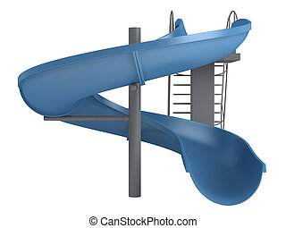 Waterslide isolated on white background