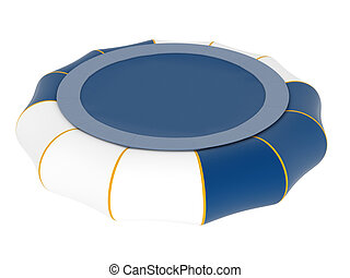 Inflatable trampoline isolated on white background