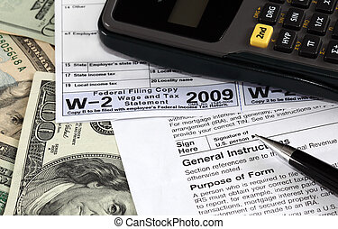 W-2 Form - W-2 and W-9 Forms on US dollars