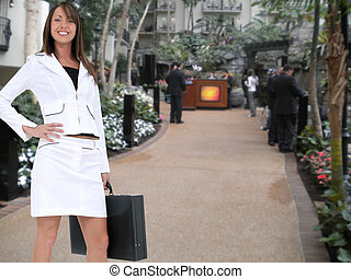 Business Woman at Hotel