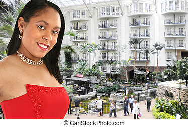 Beautiful Woman in the Opryland Hotel Atrium - Beautiful 20...