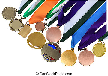 Medal Collection - Collection of medals in different shape...