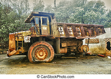 Mining truck - Abandoned mining huge industrial truck, this...