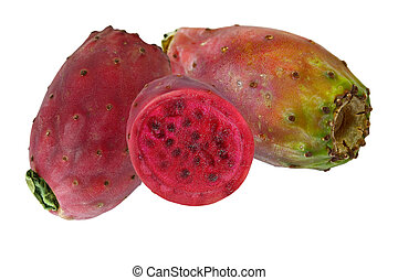 Prickly pear cactus - Two and a half prickly pear cactus...