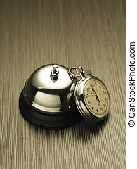 Stopwatch and service bell