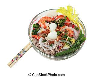 Phnom Penh Noodle Soup - Bowl of phnom penh noodle soup...