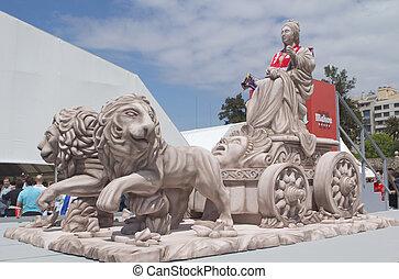Replica of the Cibeles Statue - A replica of the Cibeles...