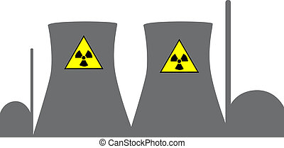 nuclear power plant - an illustration of an nuclear power...