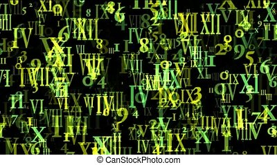 abstract computer business number and alphabet...