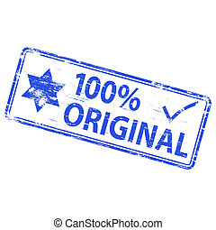 "Original Stamp - Rubber stamp illustration showing ""100%..."