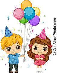Boy Giving Balloons