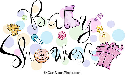Baby Shower - Text Featuring the Words Baby Shower