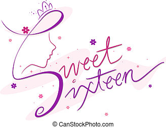 Sweet Sixteen - Text Featuring the Words Sweet Sixteen