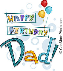 Dad Birthday - Text Featuring Birthday Greetings for Dad