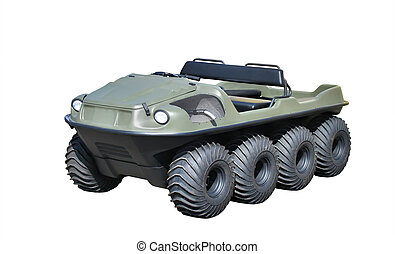 All-terrain vehicle isolated over white