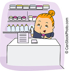 Esthetician - Illustration of an Esthetician at Work