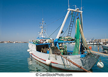 Fishing trawler.
