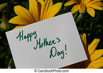 Happy Mothers Day - Flowers with a Happy Mothers Day text on...