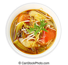 Sour and Sweet Soup - Vegetable Sour and Sweet Soup isolated...
