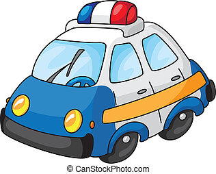 police car - An illustration of a police car