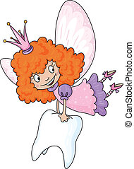 tooth fairy - illustration of a tooth fairy