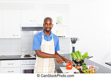 african american man cooking