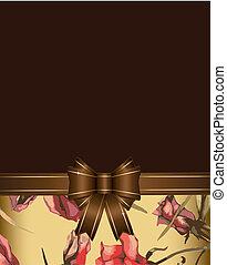 vintage floral vector background