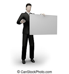 Business holds form - On 3d image business holds the empty...