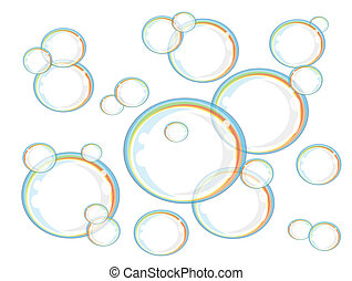 Rainbow soap bubbles,vector