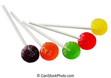 Sucker Lollipops - Sucker lollipops in different colors...