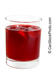 Strawberry Punch - Strawberry limeade in a glass isolated on...