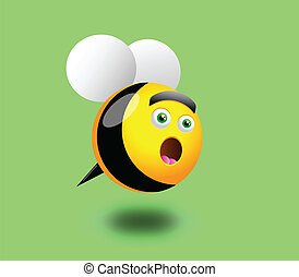 Surprised Bee - Vector illustration of a Surprised Bee