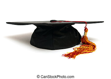 Grad Hat - An isolated grad hat to symbolize a student...