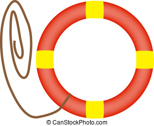Life Buoy vector isolated on white