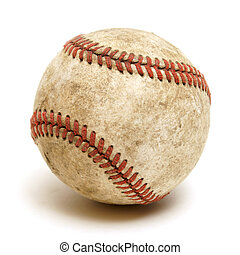 Baseball - An isolated shot of a well used baseball